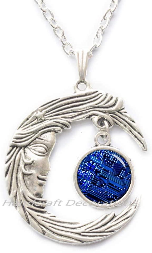 HandcraftDecorations Circuit Board Jewelry,Geek Pendant,Circuit Board Necklace,Best Friend Necklace,Simple Necklace,Everyday Necklace,Gorgeous Necklace.F079