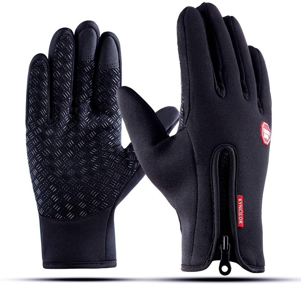 KYNCILOR Outdoor Winter Gloves Touchscreen Running Warm Gloves