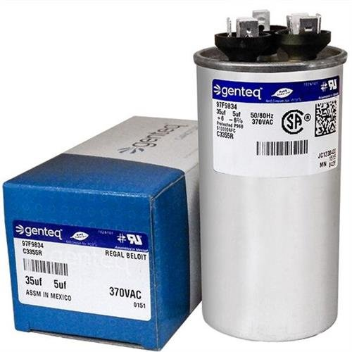 B9457-5300 - 35 + 5 uf MFD 370 Volt VAC - Goodman Round Dual Run Capacitor Upgrade