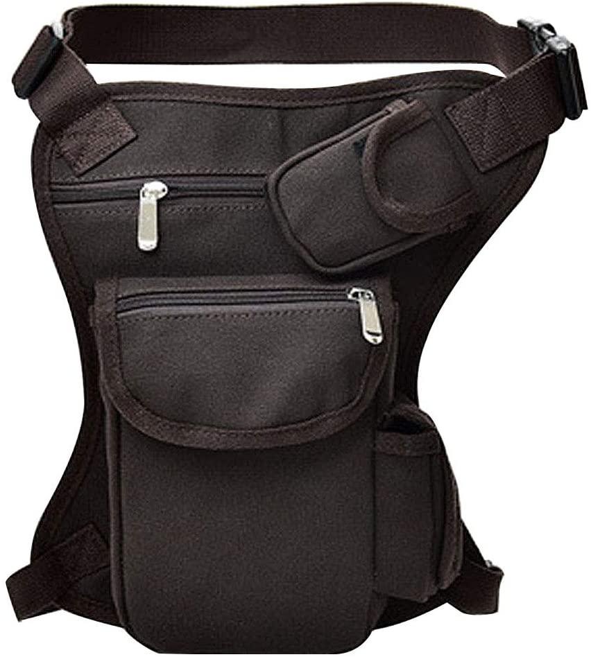 Canvas Outdoor Travel Waist Pack Men Women Tactical Multifunction Canvas Leg Bag