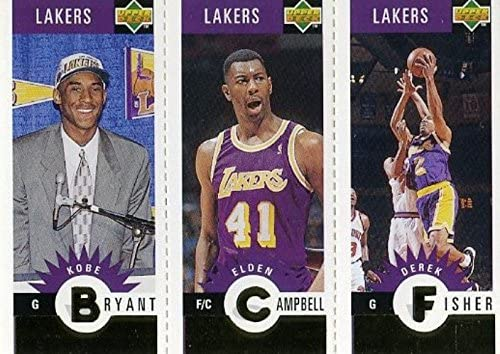 Kobe Bryant 1996/97 Upper Deck Gold MINI #L1 ROOKIE Card in Mint Condition! Los Angeles Lakers Future Hall of Famer ! Also features Derek Fisher RC! Shipped in Ultra Pro Top Loader !