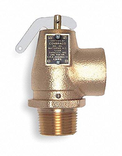 Apollo Cast Bronze Safety Relief Valve, MNPT Inlet Type, FNPT Outlet Type