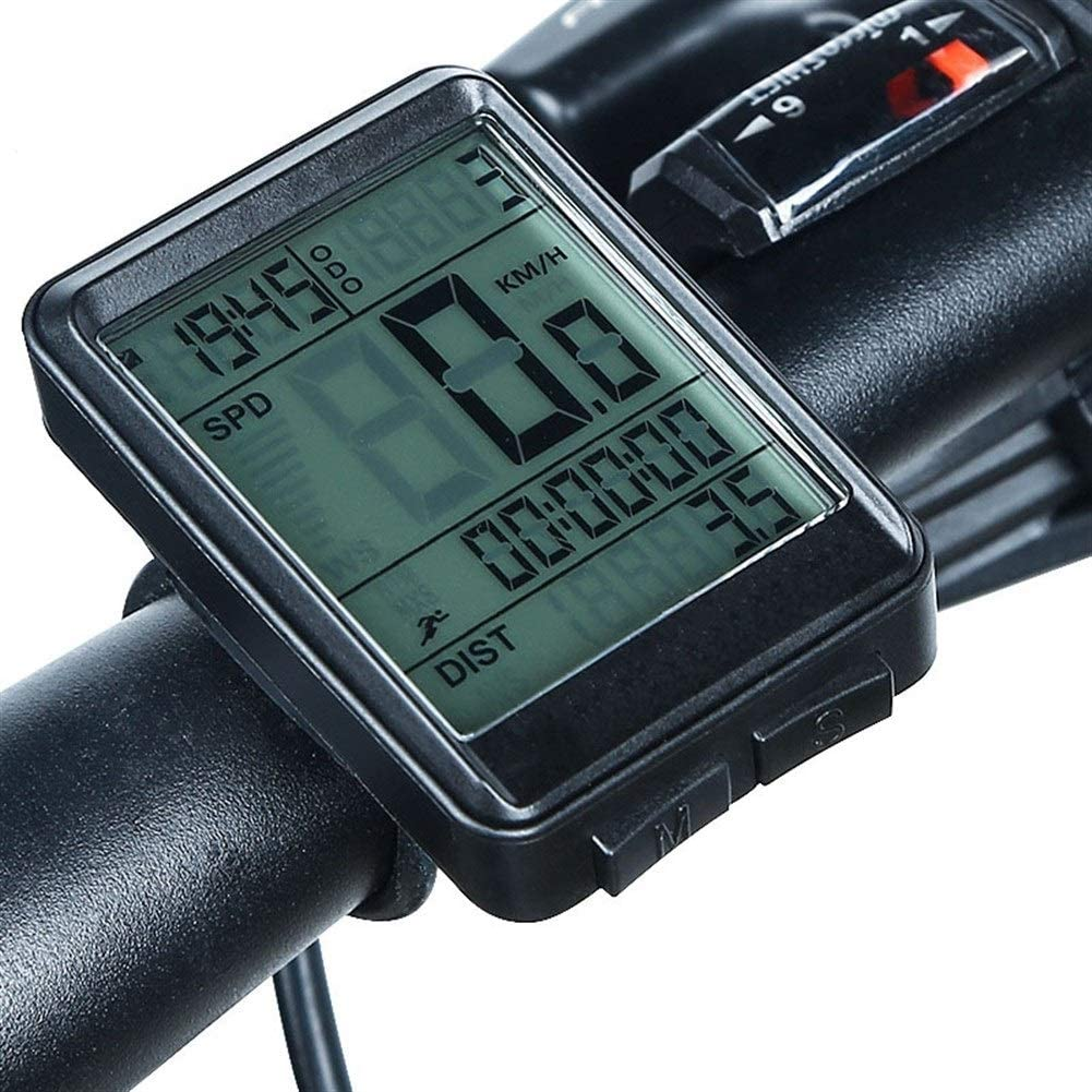 Xiao Tian Wired Bike Computer with Current/AVG/MAX Speed Tracking Speedometer, Trip Time/Distance Recording Odometer for Cycling