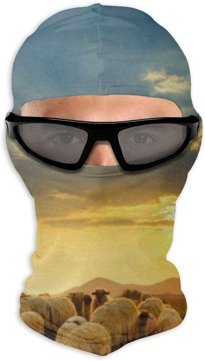 Love Lovely Wild Sheep Flock Summer Balaclava Face Mask Tactical Ninja Hood Neck Gaiter Men Women