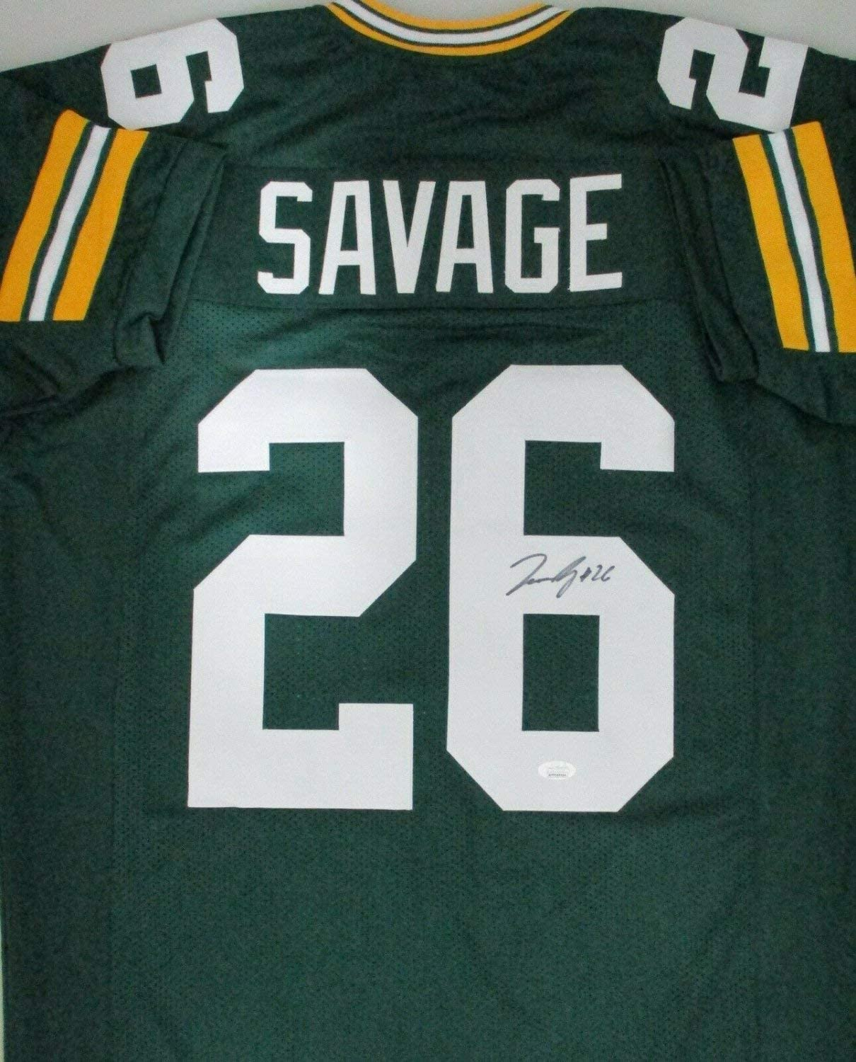 Darnell Savage Autographed Signed Packers #26 Home Green Custom Replica Jersey Auto - JSA