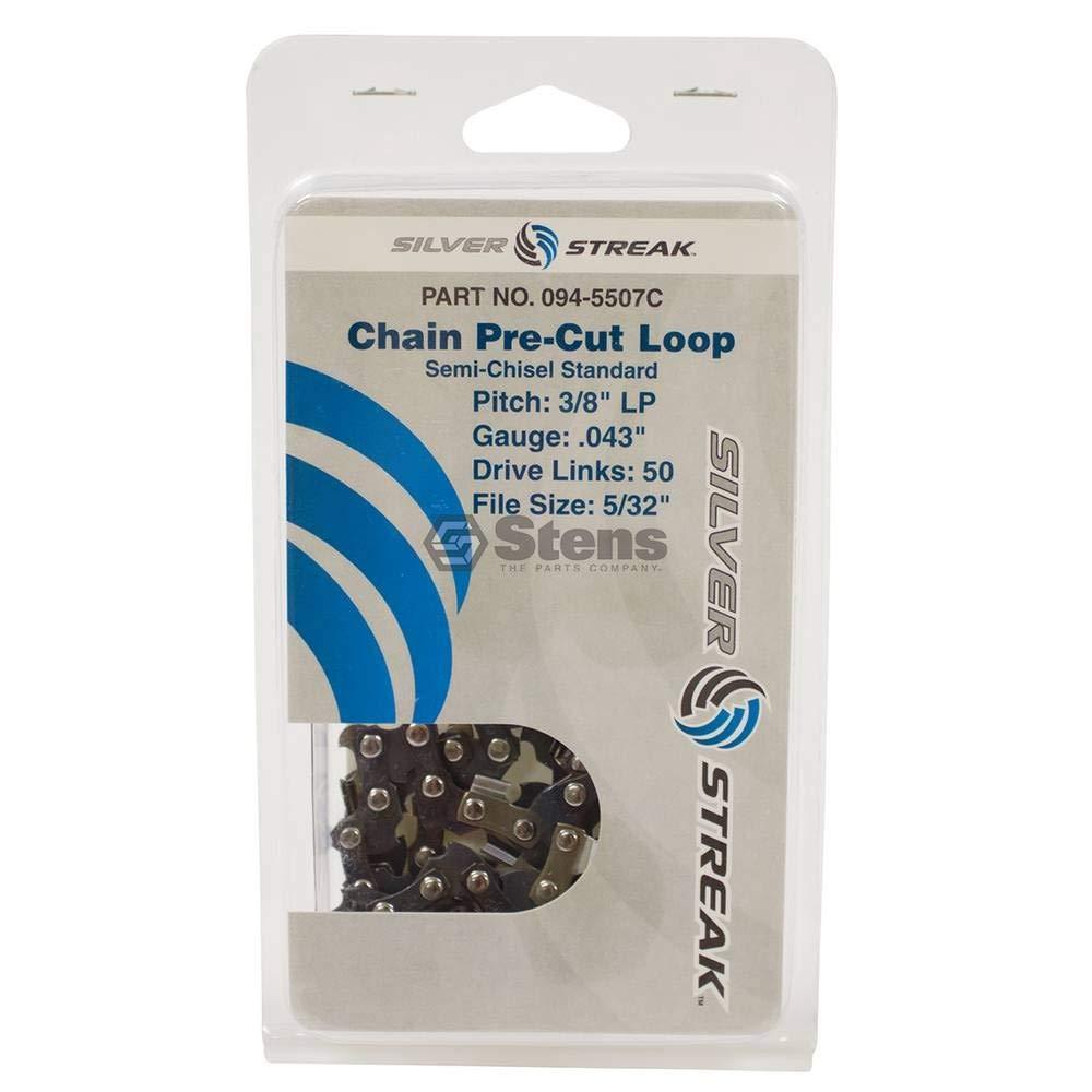 Stens 094-5507C Chain Loop, Clamshell, 50 DL, 3/8