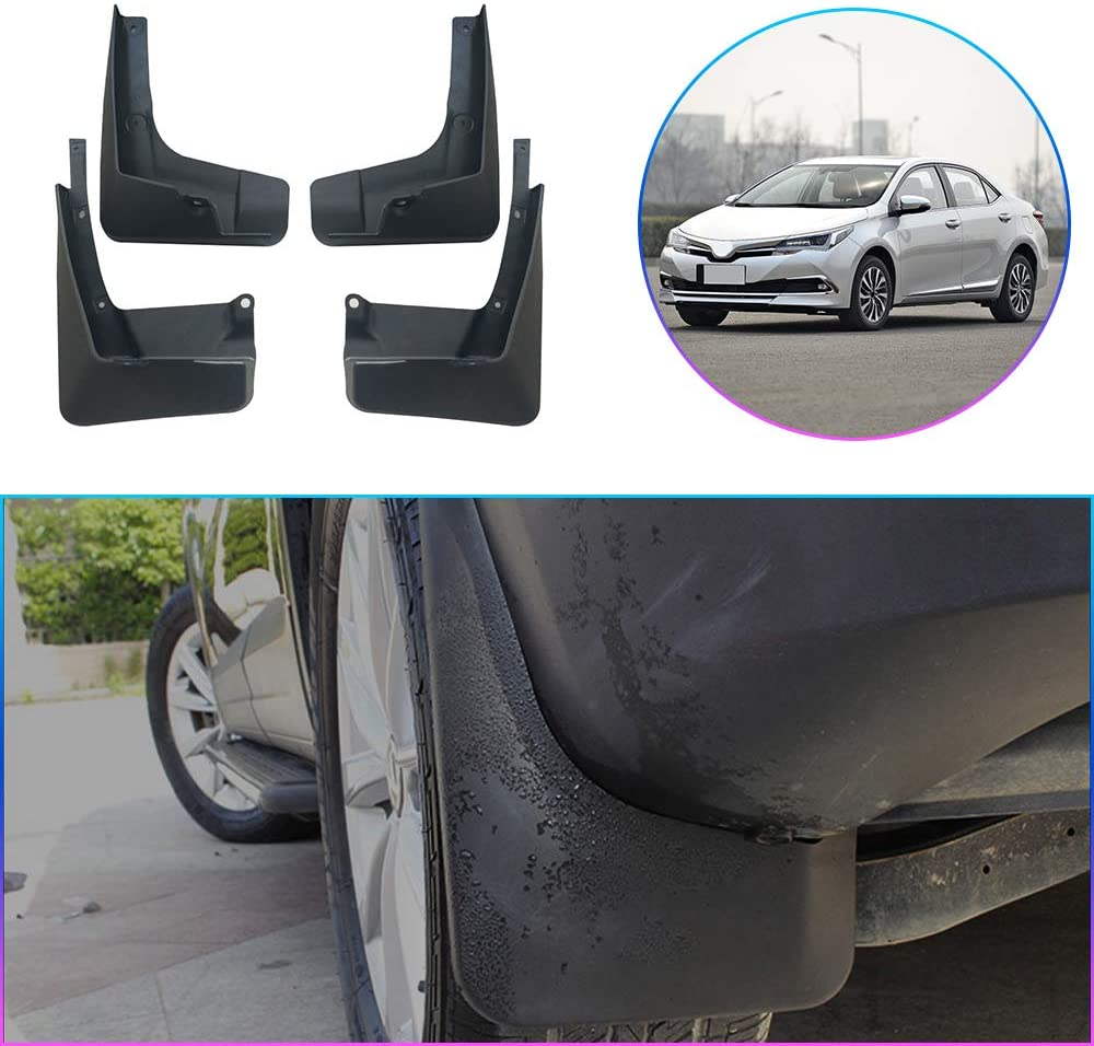 Maiqiken Car Custom Mud Flaps Splash Guards for Toyota Corolla 2014-2016 Auto Mud Guards Automotive Splash Guards Mudguards Mudflaps Fender Front & Rear Wheel 4Pcs