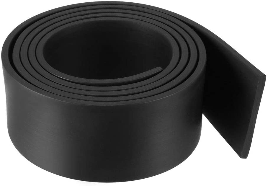 uxcell Solid Rectangle Rubber Seal Strip 35mm Wide 3mm Thick, 1 Meter Long Black