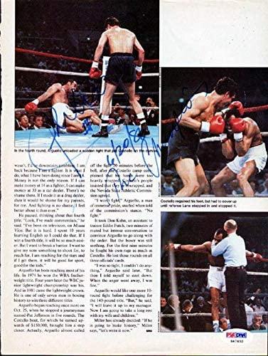 Alexis Arguello Autographed Magazine Page Photo #S47452 - PSA/DNA Certified - Autographed Boxing Magazines