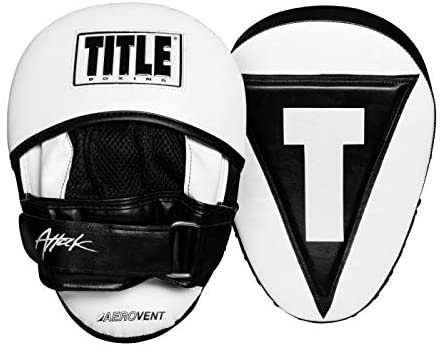 """Title Boxing Attack """"Big-T"""" Punch Mitts 2.0, White/Black"""