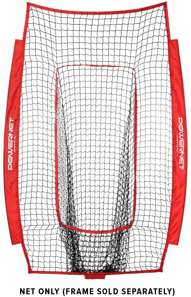PowerNet Infielder Training Net for Baseball Softball Drills (NET ONLY) Replacement | Heavy Duty Knotless | Durable PU Coated Polyester | Double Stitched Seams for Extra Strength