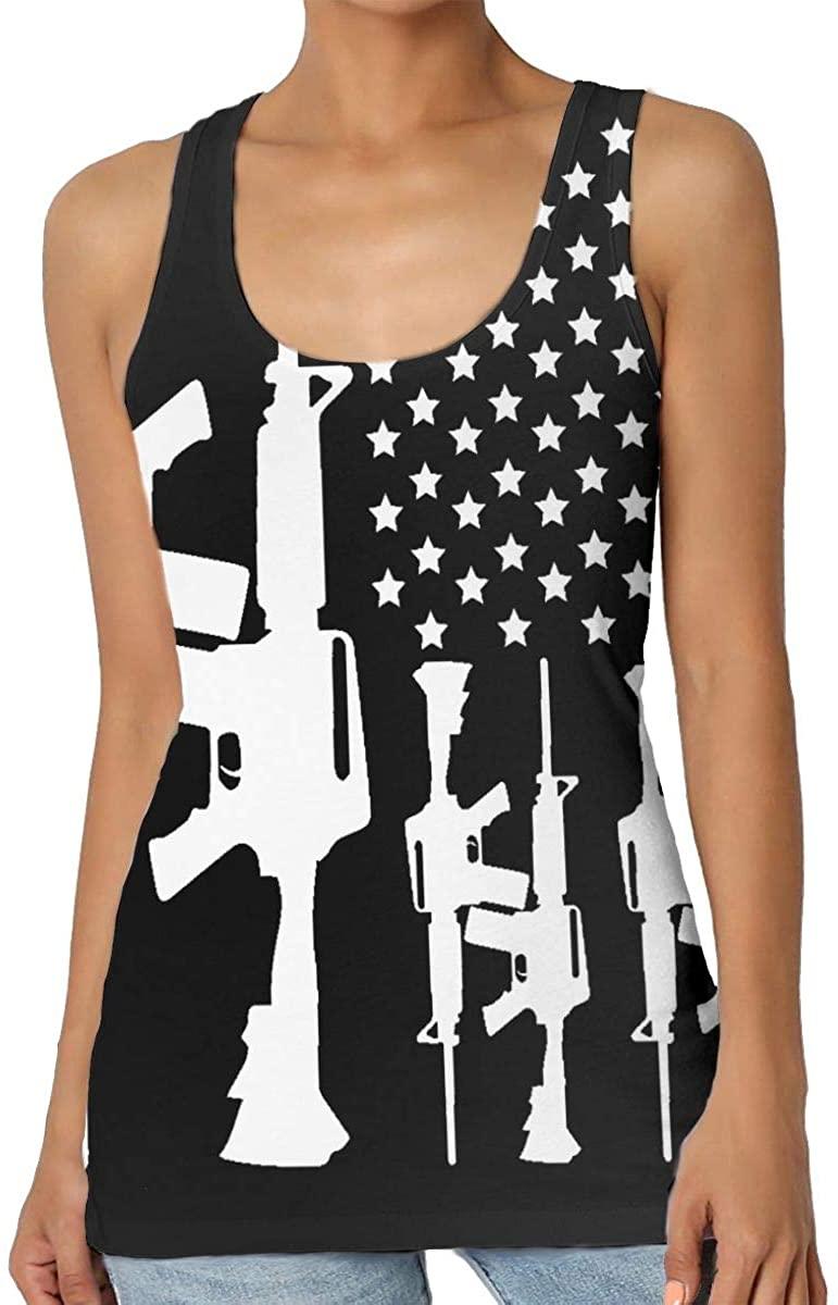Yongchuang Feng AR-15 2nd Amendment- Gun Rights Women's Tank Top T-Shirt Retro Sleeveless Vest