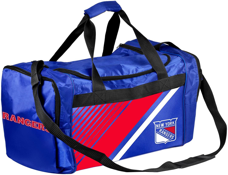 FOCO NHL New York Rangers Border Stripe Duffle Bag