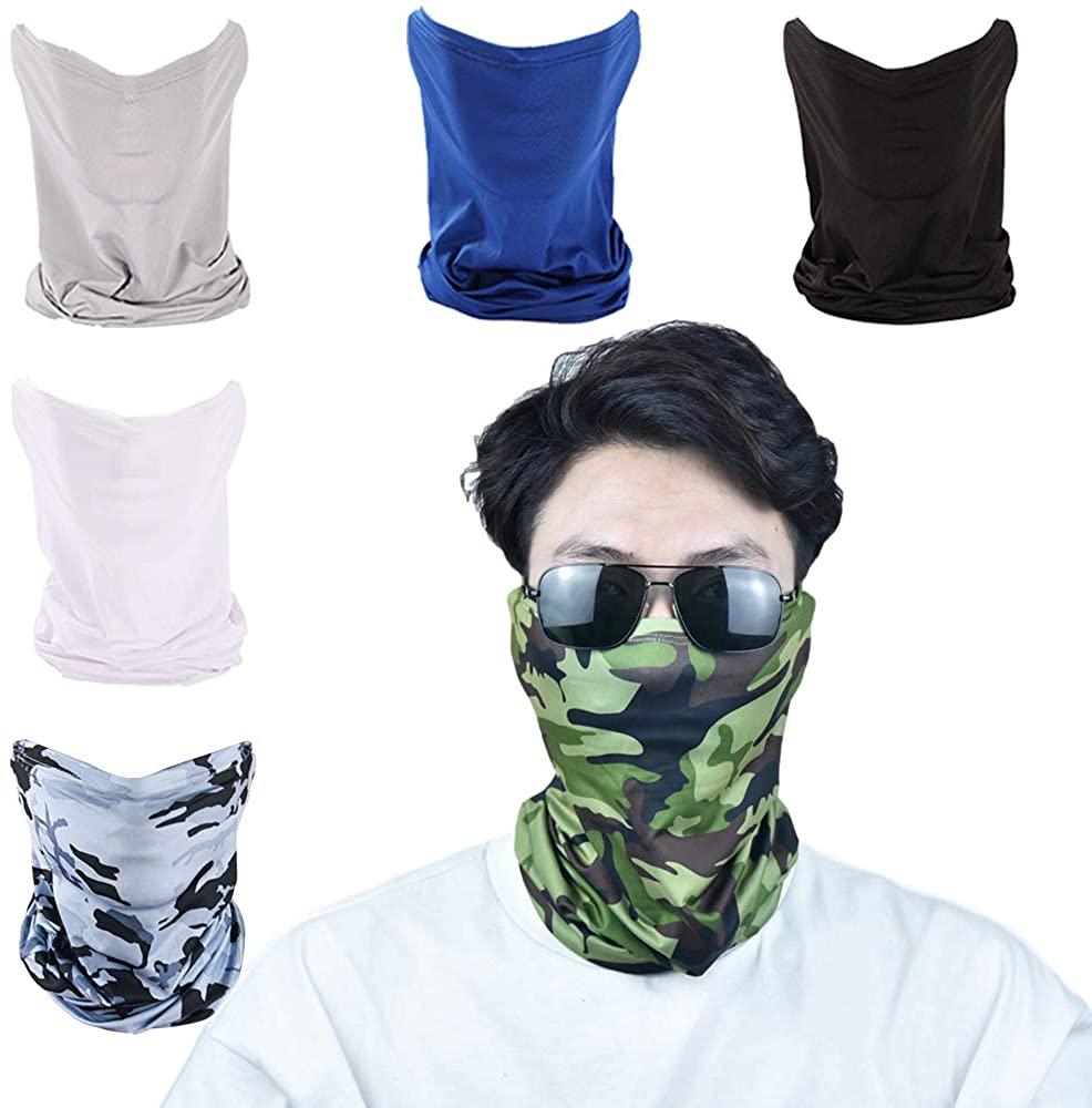 Neck Gaiter Headband Bandanas Face Mask for Men Scarf Mask Headwear Balaclava for Women