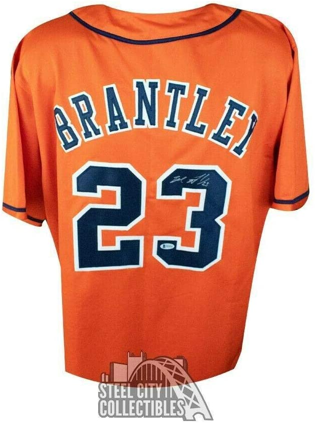 Michael Brantley Autographed Jersey - Houston Astros Custom Orange BAS - Beckett Authentication - Autographed MLB Jerseys