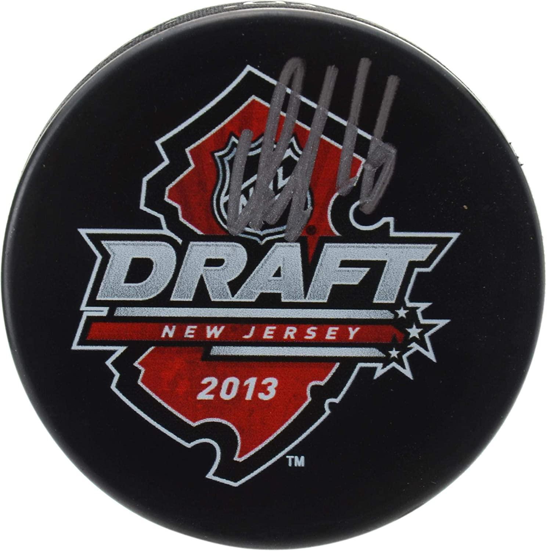 Aleksander Barkov Florida Panthers Autographed 2013 NHL Draft Logo Hockey Puck - Fanatics Authentic Certified