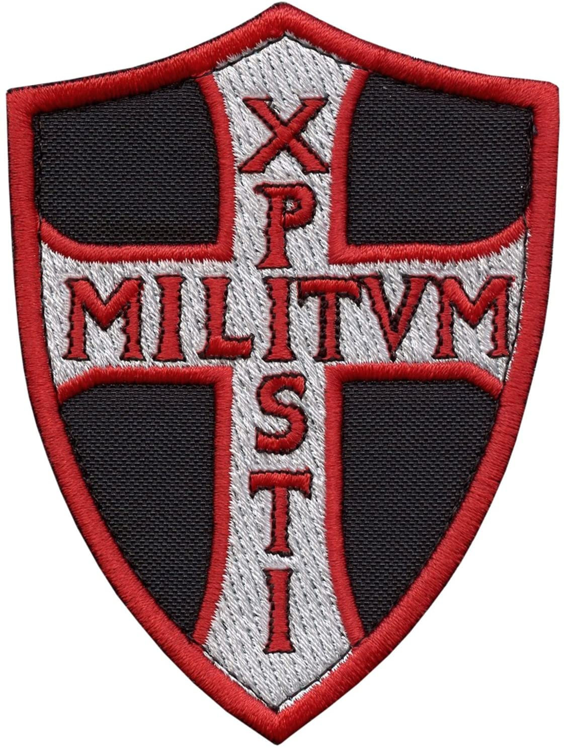 LEGEEON Knights Templar Chi Rho Xpisti Militvm Soldiers of Christ Crusader Cross Tactical Morale Sew Iron on Patch