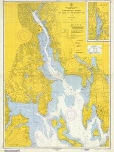 Historical Nautical Chart 278-8-1954F: RI, Providence River Year 1954
