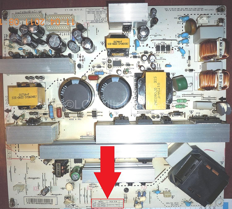 Repair Kit, LG 42LC7D-UB PCB P/N EAX37617801, LCD TV, Capacitors, Not The Entire Board
