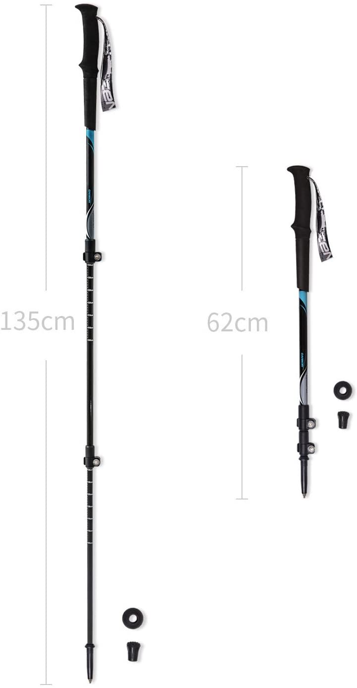 Zenph Ultralight Carbon Fiber Trekking Pole, Anti Shock Hiking/Walking/Trekking Trail Poles for Hiking, Camping, Mountaining, Backpacking [1 Pack]