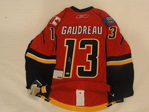 Autographed Johnny Gaudreau Jersey - Reebok Edge Calgary Flames Coa - PSA/DNA Certified - Autographed NHL Jerseys