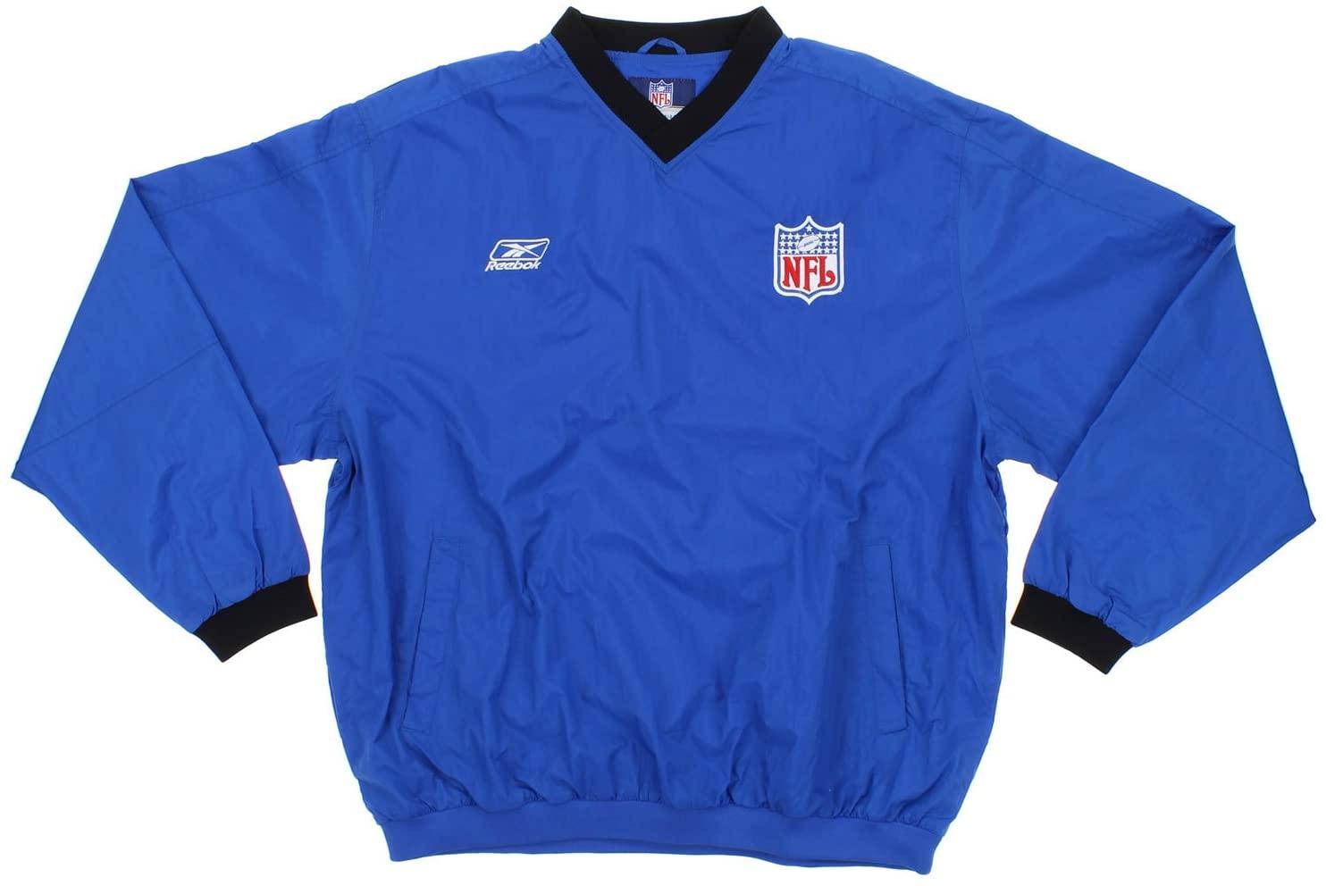 NFL Football Big Mens Sideline V-Neck Pullover Hot Jacket, Royal