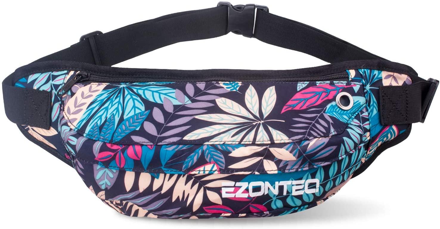 EZONTEQ Large Size Fanny Pack, Soft Waist Pack Single Shoulder Bag for Man Women Running Shopping Adjustable Strap Carrying All Kind Phones