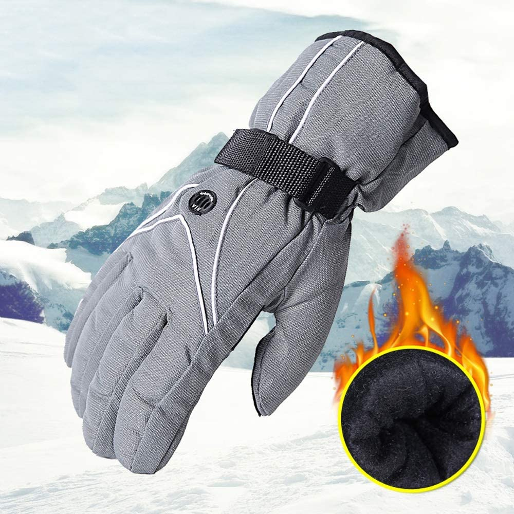 SPRRC Mens Warm Gloves Winter Windproof Warm Waterproof Plus Velvet Thick Cotton Riding Cold Riding Ski Gloves Touch Screen Cotton Gloves Hiking Outdoor Gloves