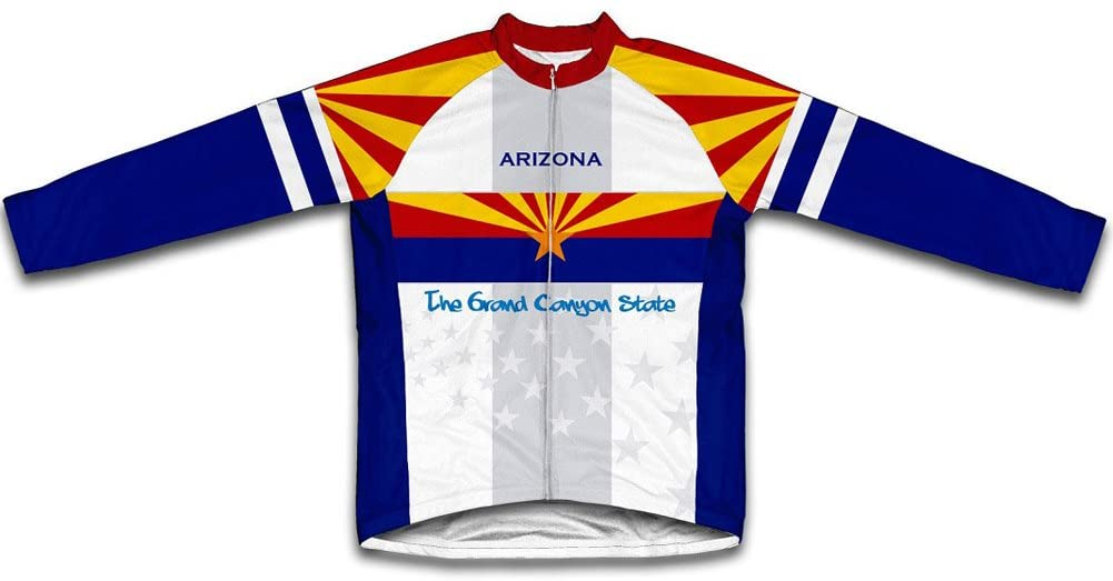 ScudoPro Arizona Flag Winter Thermal Cycling Jersey for Men