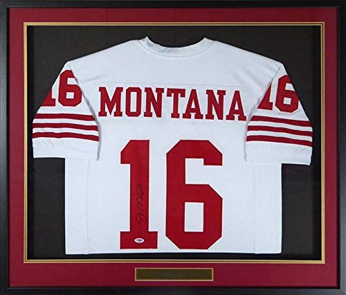 Joe Montana Autographed Jersey - Framed White Stock #123646 - PSA/DNA Certified - Autographed NFL Jerseys