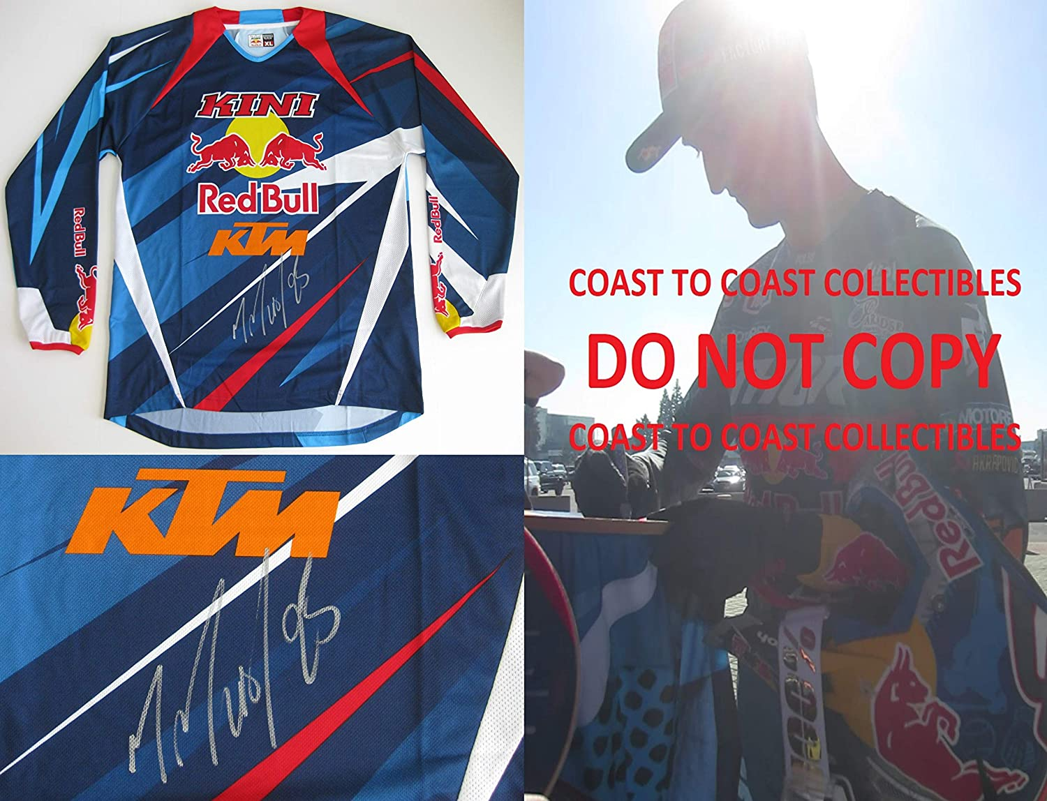 Marvin Musquin Supercross Motocross signed autographed Red Bull KTM Jersey,proof COA