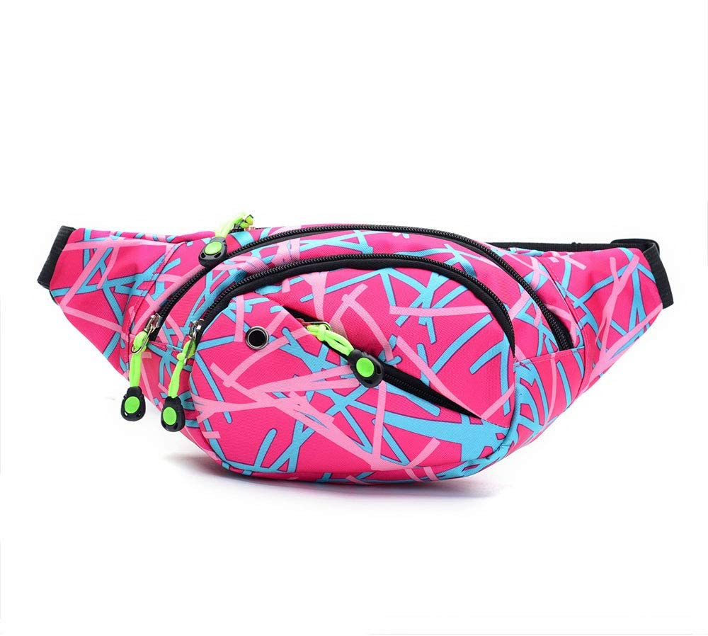 Travel Fanny Bag Waist Packs Multiple Functions Hip Bum Chest Back Bags Chest Pouch with Adjustable Belt Strap for Men Women Fit for Outdoor Events Hiking Cycling Running