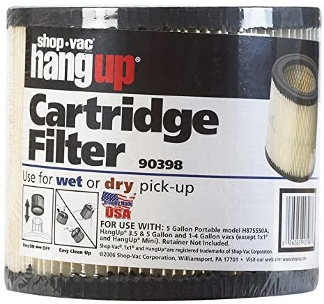 Shop Vac 903-98-00 HangUp Wet and Dry Vac Cartridge Filter
