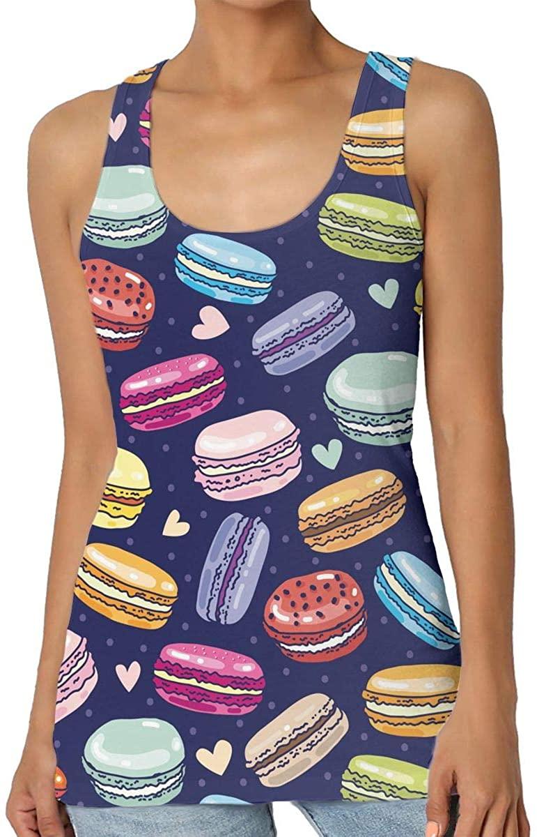 Women's Tank Top Assorted Macarons Macaroon 3D Printed Sleeveless Racerback Vest Shirts