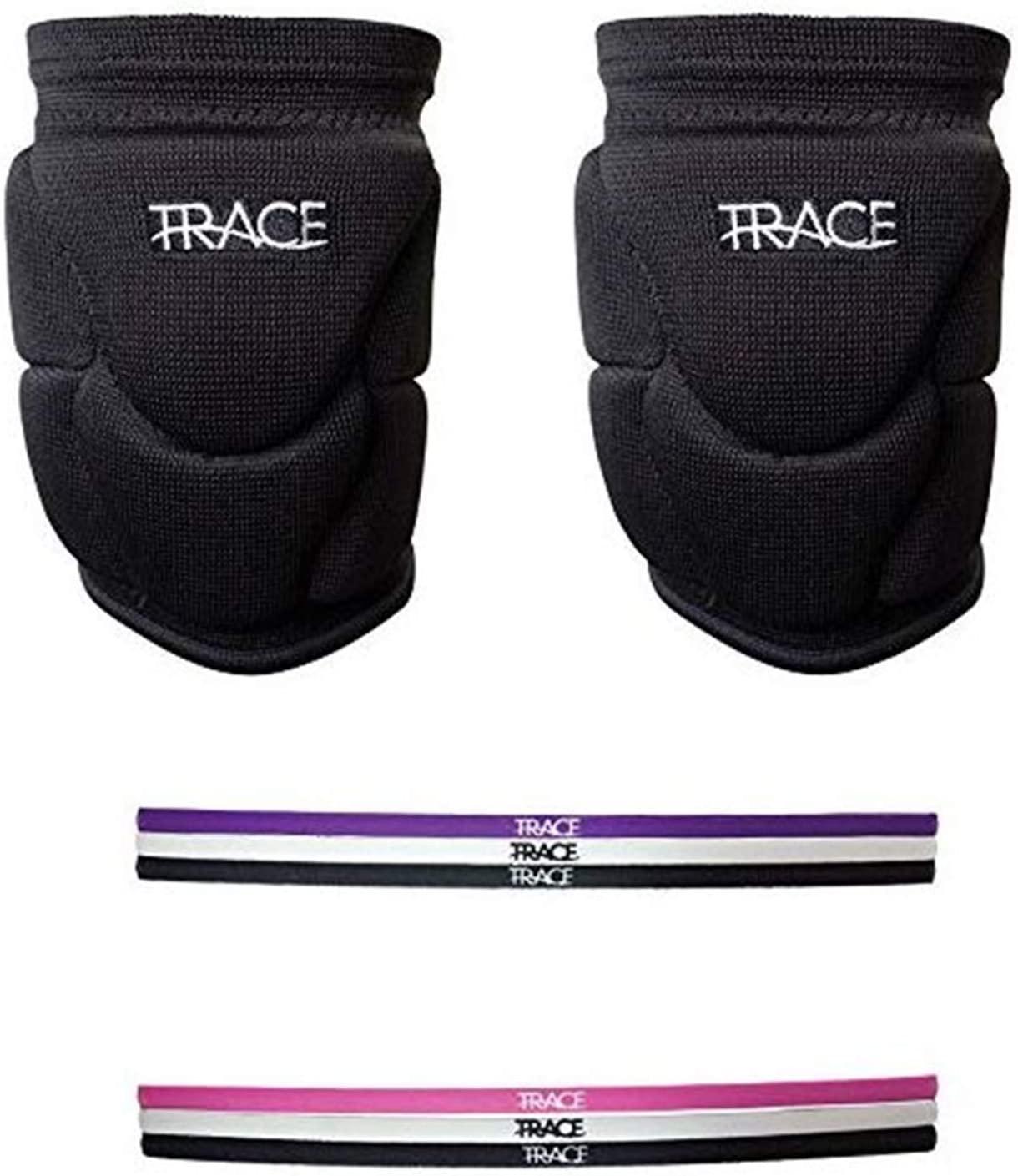 Trace Sports Volleyball Knee Pad Set W/ 3 Headbands