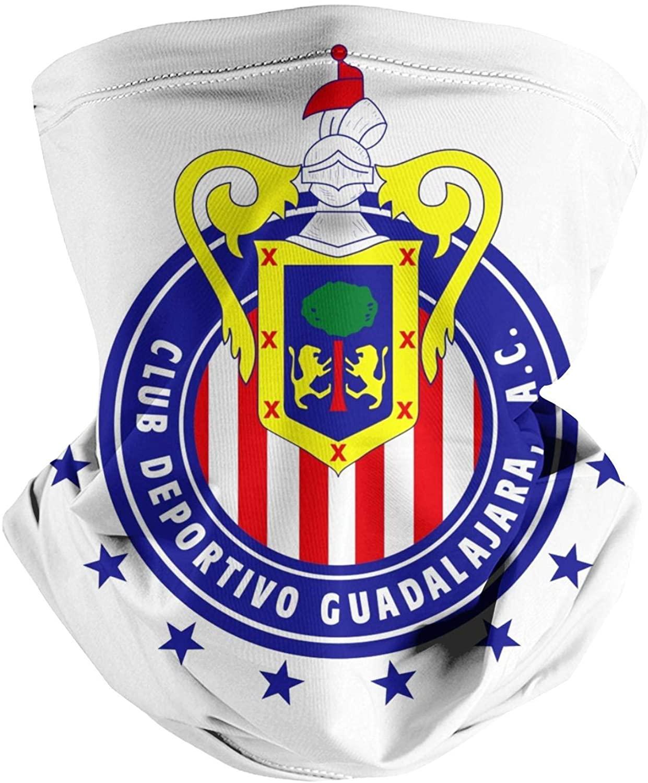 Sansalsk2 Men& Women Seamless Face Mask Bandana Club-Deportvo-Guadalajara-S.-A.-de-C.V- Multifunctional Scarf Neck Gaiter Balaclava for Dust Outdoor Sports Fishing