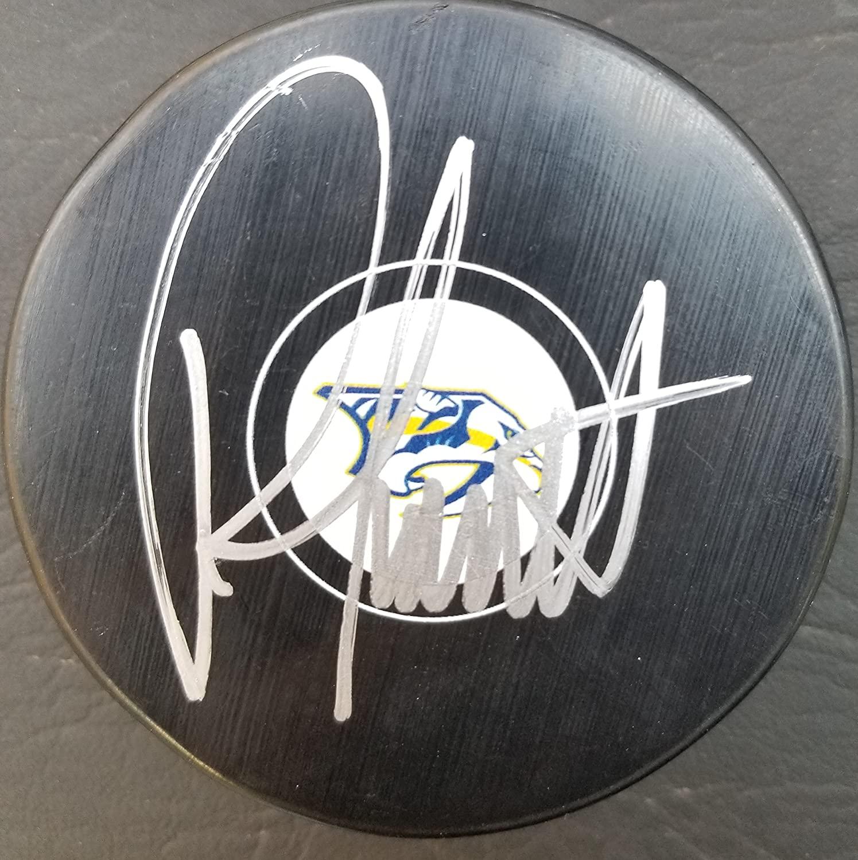 Autographed Peter Laviolette Nashville Predators Hockey Puck