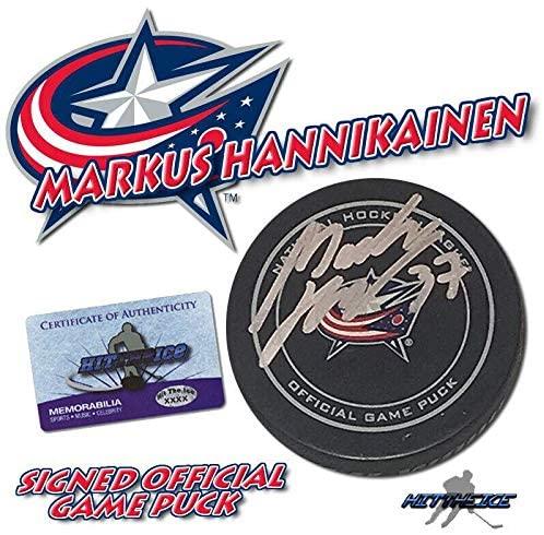 Markus Hannikainen Signed Hockey Puck - Official w COA - Autographed NHL Pucks