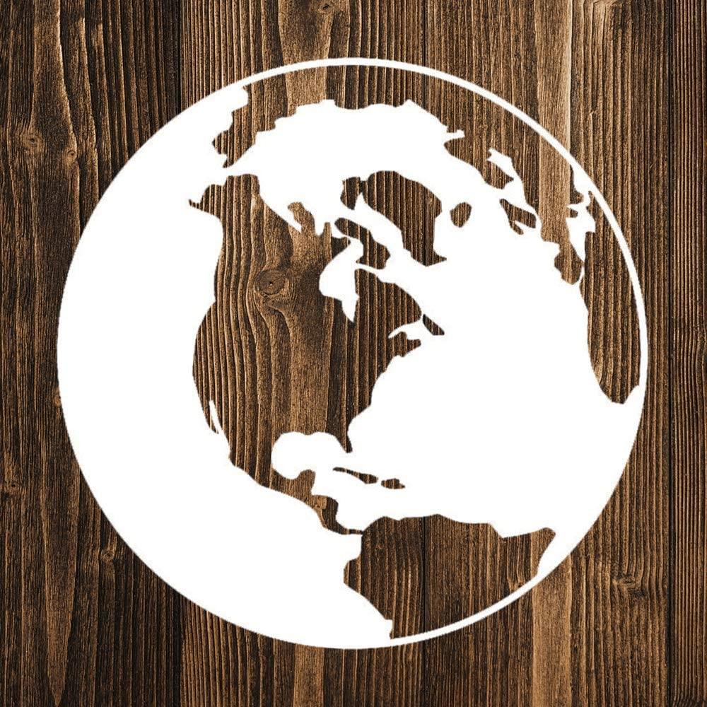 None Brand Planet Earth World Globe Vinyl Sticker Graphic Bumper Tumbler Decal for Vehicles Car Truck Windows Laptop MacBook Phone Wall Door
