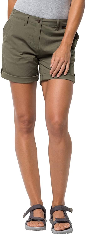 Jack Wolfskin Women's Desert Shorts Women's Nylon-stretch Roll-up Shorts,Woodland Green ,40 (U Small 31/31)