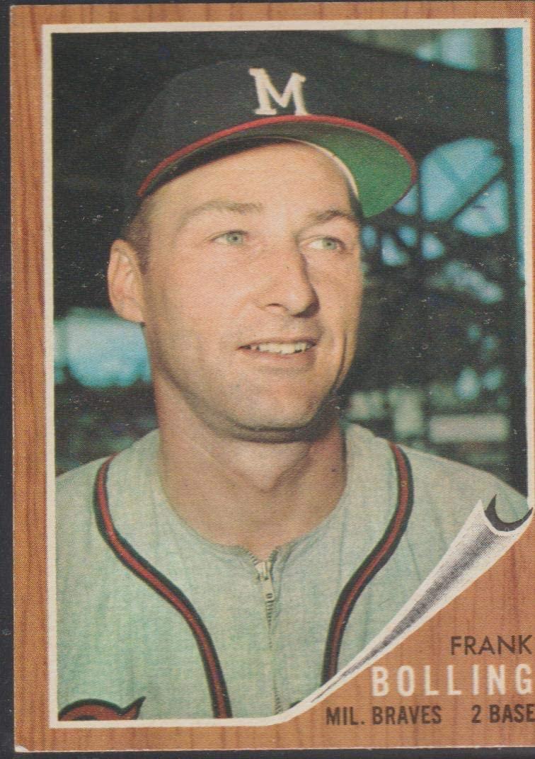 1962 Topps Frank Bolling Braves Baseball Card #130