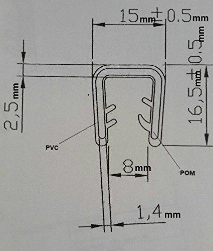 33 feet Trim Seal 5/16 Edge Trim Permanent Grip - Black - NO RUSTING -Trim lock