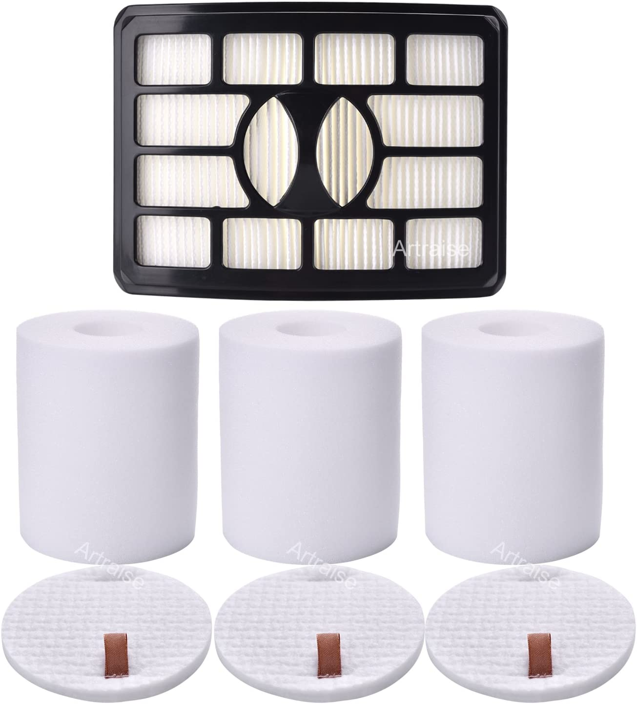 3 Pack Filters for Shark Rotator Pro Lift-away NV500, NV501, NV502, NV503, NV505, NV510, NV520, NV552, UV560, Xff500 Xhf500 (Not Fits NV650,NV680,NV750 Series) By Artraise