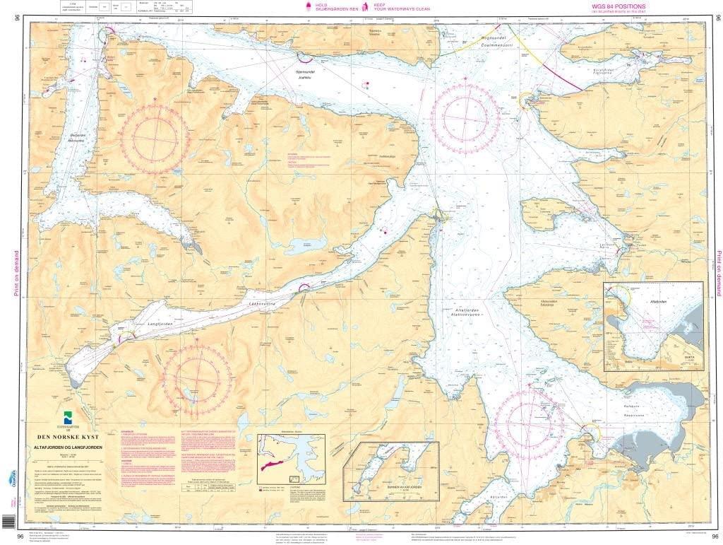 NHS Chart 96: Altafjorden og Langfjorden