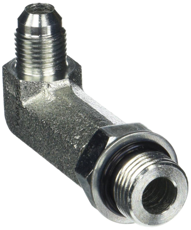 Brennan Industries 6801-LL-06-06-NWO-FG Forged Steel 90 Degree Elbow X-Long Tube Fitting, 9/16-18 SAE x 9/16-18 SAE ORB Thread, 3/8 Male JIC x 3/8 Male Adjustable O-Ring Boss