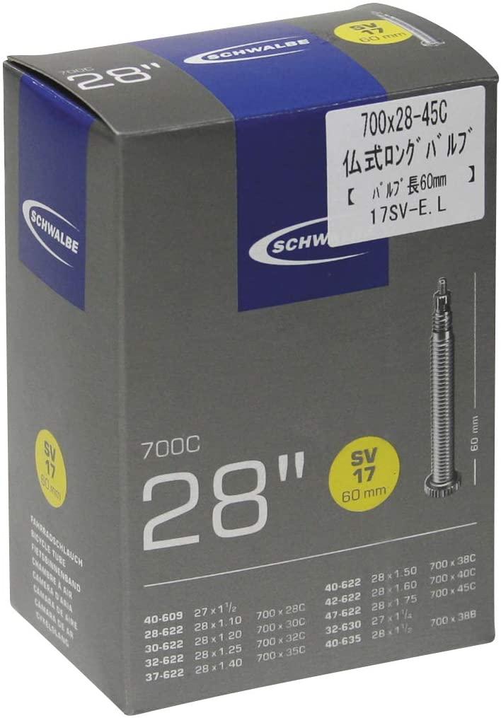 SCHWALBE Road Tubes - 700c Presta-60mm, 700x35-45
