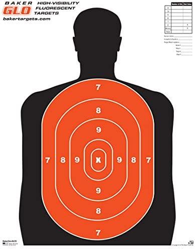 BakerGlo B27E Target - 17.5 x 23 - 50 Pack
