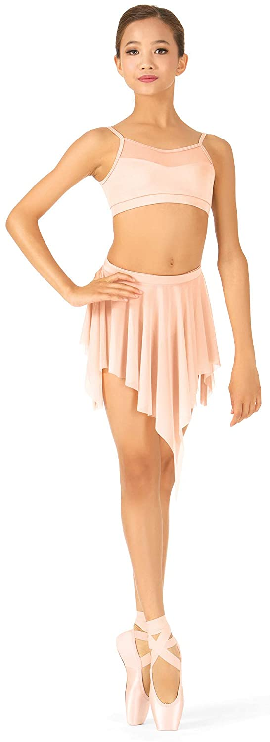 Body Wrappers Uneven Hem Drapey Dance Skirt (NL1109)