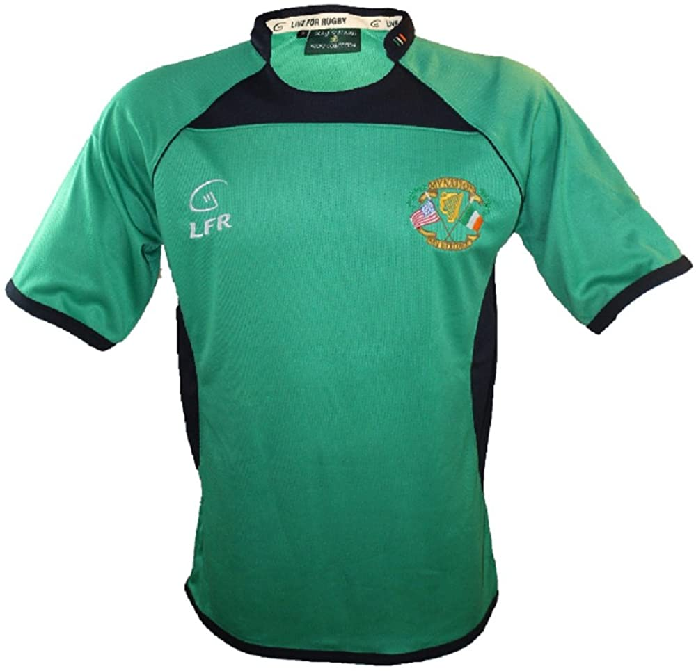LFR Malham Silky Sullivan Collection Short Sleeve My Nation My Heritage Green Rugby Jersey