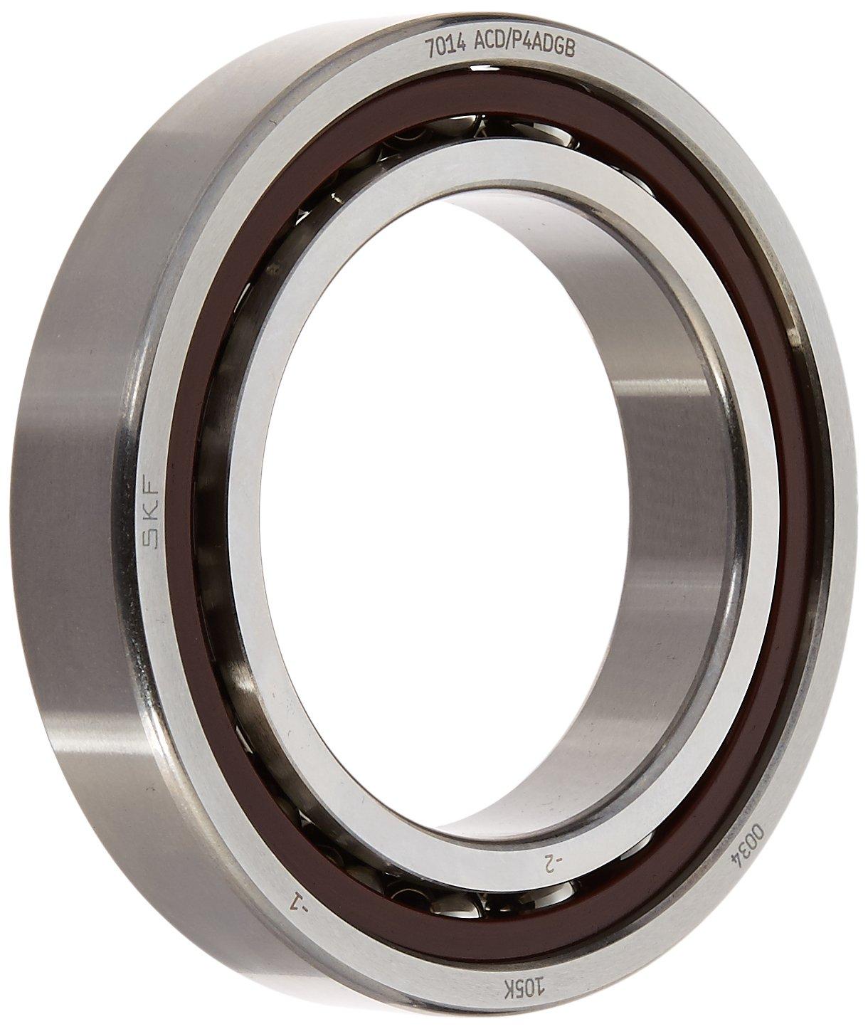SKF 71914 ACD/P4ADGB Angular Contact Bearing, Duplex Set, Medium Preload, ABEC 7 - 9 Extra Precision, 25° Contact Angle, Universal Arrangement, Metric, 70mm Bore, 100mm OD, 16mm Width